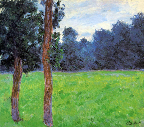 Claude Oscar Monet Two Trees in a Meadow - Hand Painted Oil Painting