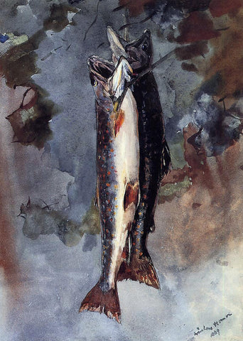 Winslow Homer Two Trout - Hand Painted Oil Painting