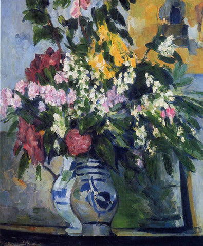 Paul Cezanne Two Vases of Flowers - Hand Painted Oil Painting