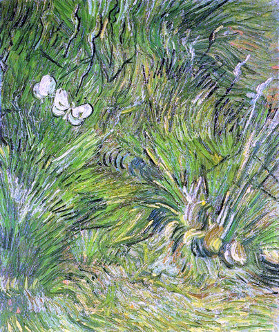 Vincent Van Gogh Two White Butterflies - Hand Painted Oil Painting