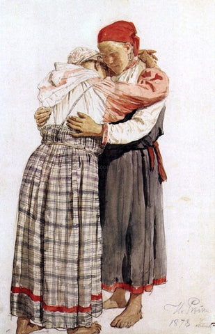 Ilia Efimovich Repin Two woman - Hand Painted Oil Painting