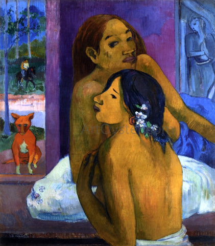 Paul Gauguin Two Women (also known as Flowered Hair) - Hand Painted Oil Painting