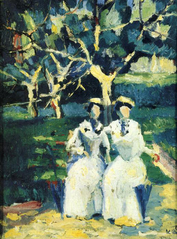 Kazimir Malevich Two Women in a Garden - Hand Painted Oil Painting