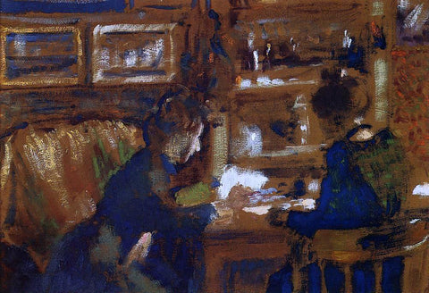 Georges Lemmen Two Women in an Interior - Hand Painted Oil Painting