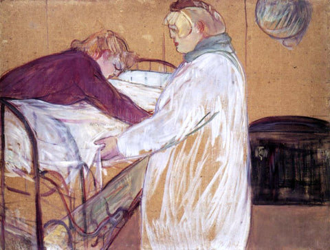 Henri De Toulouse-Lautrec Two Women Making the Bed (also known as Deux femmes en faisant leur lit) - Hand Painted Oil Painting