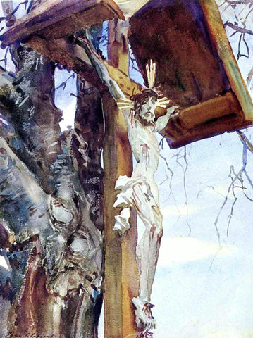 John Singer Sargent Tyrolese Crucifix - Hand Painted Oil Painting