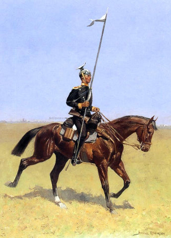 Frederic Remington Uhlan (also known as Lancer) - Hand Painted Oil Painting
