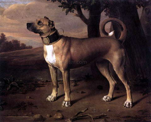 Johann Christof Merck Ulmer Dogge - Hand Painted Oil Painting