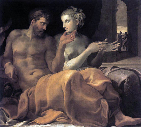 Francesco Primaticcio Ulysses and Penelope - Hand Painted Oil Painting