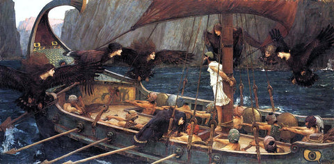 John William Waterhouse Ulysses and the Sirens - Hand Painted Oil Painting