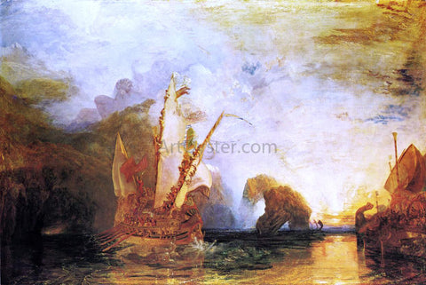 Joseph William Turner Ulysses Deriding Polyphemus - Homer's Odyssey - Hand Painted Oil Painting