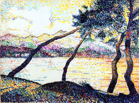 Hippolyte Petitjean Umbrella Pines, Sainte-Maxime - Hand Painted Oil Painting