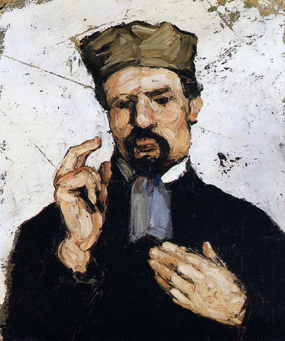 Paul Cezanne Uncle Dominique as a Lawyer - Hand Painted Oil Painting