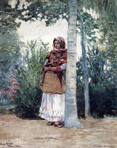 Winslow Homer Under a Palm Tree - Hand Painted Oil Painting