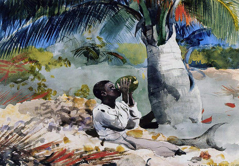Winslow Homer Under the Coco Palm - Hand Painted Oil Painting