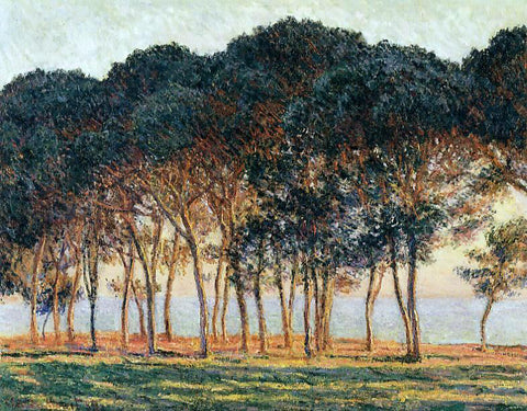 Claude Oscar Monet Under the Pine Trees at the End of the Day - Hand Painted Oil Painting