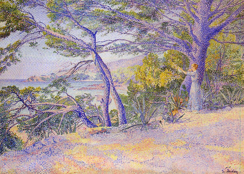 Louis Gaidan Under the Pines at Carqueiranne - Hand Painted Oil Painting