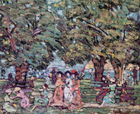 Maurice Prendergast Under the Trees - Hand Painted Oil Painting