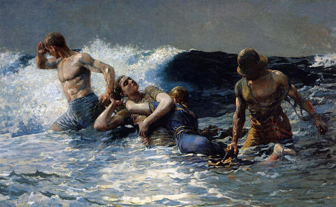 Winslow Homer Undertow - Hand Painted Oil Painting