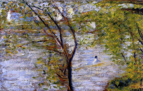Georges Seurat Une Perissoire - Hand Painted Oil Painting
