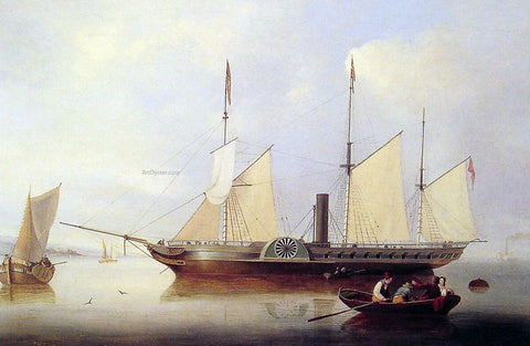 Fitz Hugh Lane Unicorn in Salem Harbour - Hand Painted Oil Painting