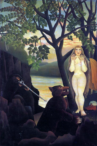 Henri Rousseau Unpleasant Surprise - Hand Painted Oil Painting