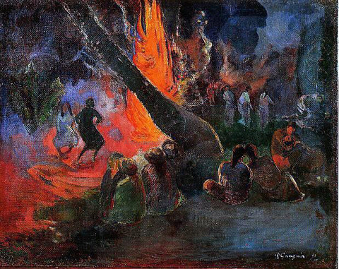 Paul Gauguin Upaupa (also known as Fire Dance) - Hand Painted Oil Painting