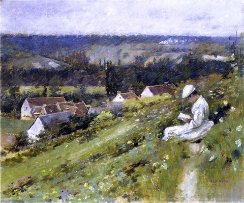 Theodore Robinson Val d'Arconville - Hand Painted Oil Painting