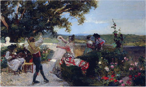 Joaquin Sorolla Y Bastida Valencian Dance in an Orange Grove - Hand Painted Oil Painting