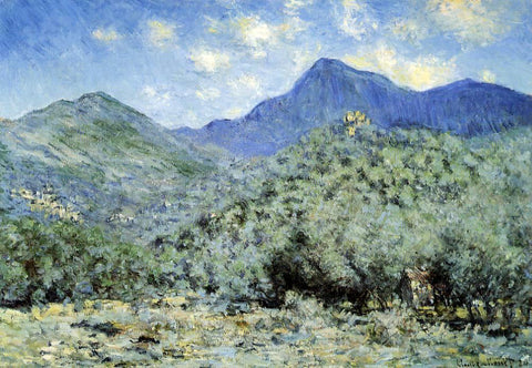 Claude Oscar Monet Valle Bouna near Bordighera - Hand Painted Oil Painting