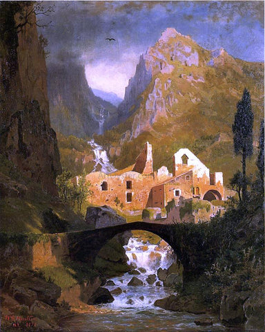 William Stanley Haseltine Valle dei Molini - Amalfi - Hand Painted Oil Painting