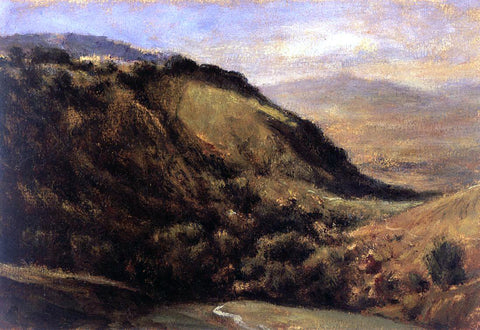 Theodore Rousseau Valley in the Auvergne - Hand Painted Oil Painting