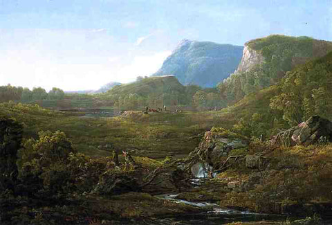 William Louis Sonntag Valley Landscape (also known as Cincinnati) - Hand Painted Oil Painting