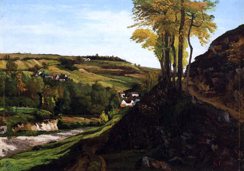 Gustave Courbet Valley of Ornans - Hand Painted Oil Painting
