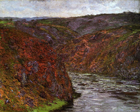 Claude Oscar Monet Valley of the Creuse, Grey Sky - Hand Painted Oil Painting