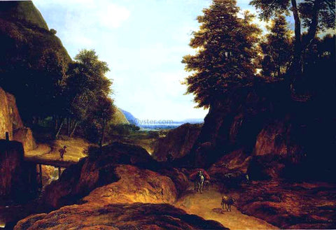 Roelandt Roghman Valley with Travellers - Hand Painted Oil Painting