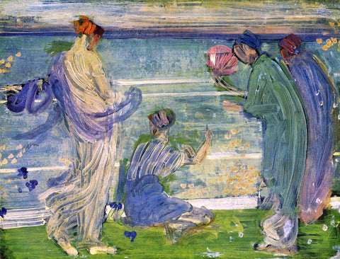James McNeill Whistler Variations in Blue and Green - Hand Painted Oil Painting
