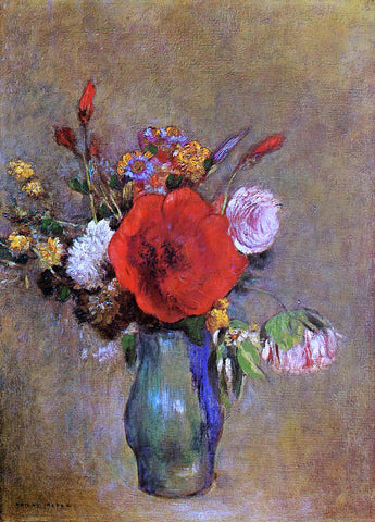 Odilon Redon Vase of Flowers - Hand Painted Oil Painting