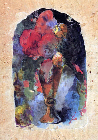 Paul Gauguin Vase of Flowers (after Delacroix) - Hand Painted Oil Painting