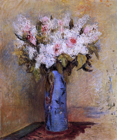 Pierre Auguste Renoir Vase of Lilacs and Roses - Hand Painted Oil Painting