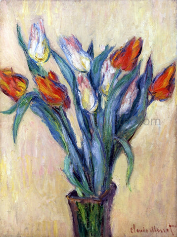 Claude Oscar Monet Vase of Tulips - Hand Painted Oil Painting
