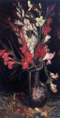 Vincent Van Gogh Vase with Red Gladioli - Hand Painted Oil Painting