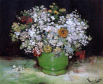 Vincent Van Gogh Vase with Zinnias and Other Flowers - Hand Painted Oil Painting