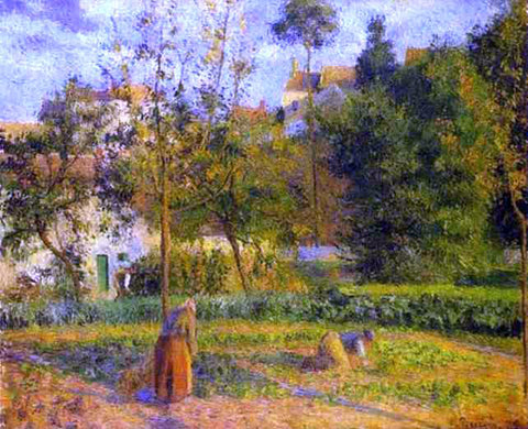 Camille Pissarro Vegetable Garden at l'Hermitage near Pontoise - Hand Painted Oil Painting