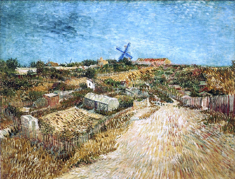 Vincent Van Gogh A Vegetable Gardens in Montmartre - Hand Painted Oil Painting