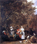 Gabriel Metsu Vegetable Market in Amsterdam - Hand Painted Oil Painting