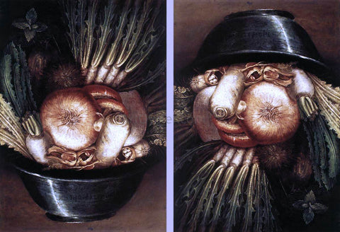 Giuseppe Arcimboldo Vegetables in a Bowl or The Gardener - Hand Painted Oil Painting
