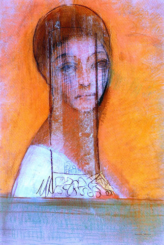 Odilon Redon Veiled Woman - Hand Painted Oil Painting