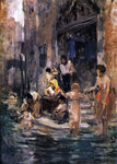Frank Duveneck Venetian Bathers - Hand Painted Oil Painting