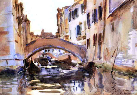 John Singer Sargent A Venetian Canal - Hand Painted Oil Painting